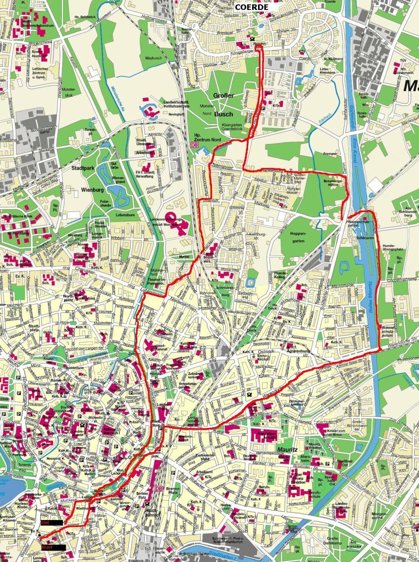 Großer Lauf nach Coerde (über Schleuse) 23.04.06