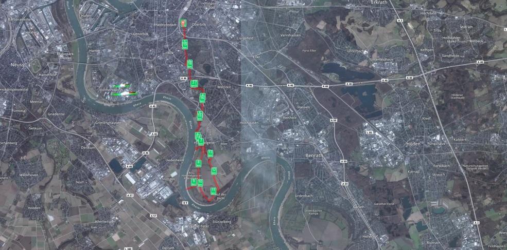 Lauf durch Himmelgeist 20km 15.06.15